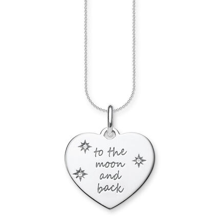 THOMAS SABO Kette Herz to the moon and back 925er Sterlingsilber