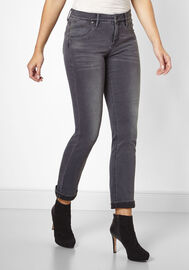 Paddock's 5-Pocket Jeans TRACY, med grey used
