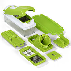 Genius Nicer Dicer Smart, 9-teiliges Set, grün