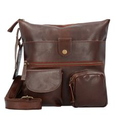 Billy the Kid Nasty Cowboys Colby Umhängetasche Leder 28 cm, nut brown