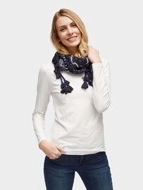 Tom Tailor Accessoire Tuch mit maritimen Muster, real navy blue