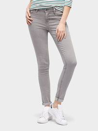 Tom Tailor Denim Jeanshosen Nela Extra Skinny Jeans, bleached light grey denim