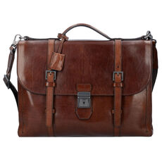 The Bridge Byron Aktentasche Leder 39 cm Laptopfach, marrone tb rut.sc.opaco