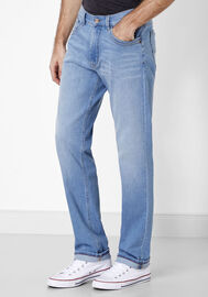 Paddock's 5-Pocket Jeans CARTER, blue bleached used