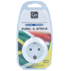 Go Travel Euro-South Africa Adapter 5,5 cm, weiß
