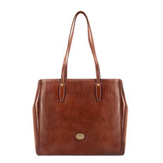 The Bridge Story Donna Shopper Tasche Leder 32 cm, marrone