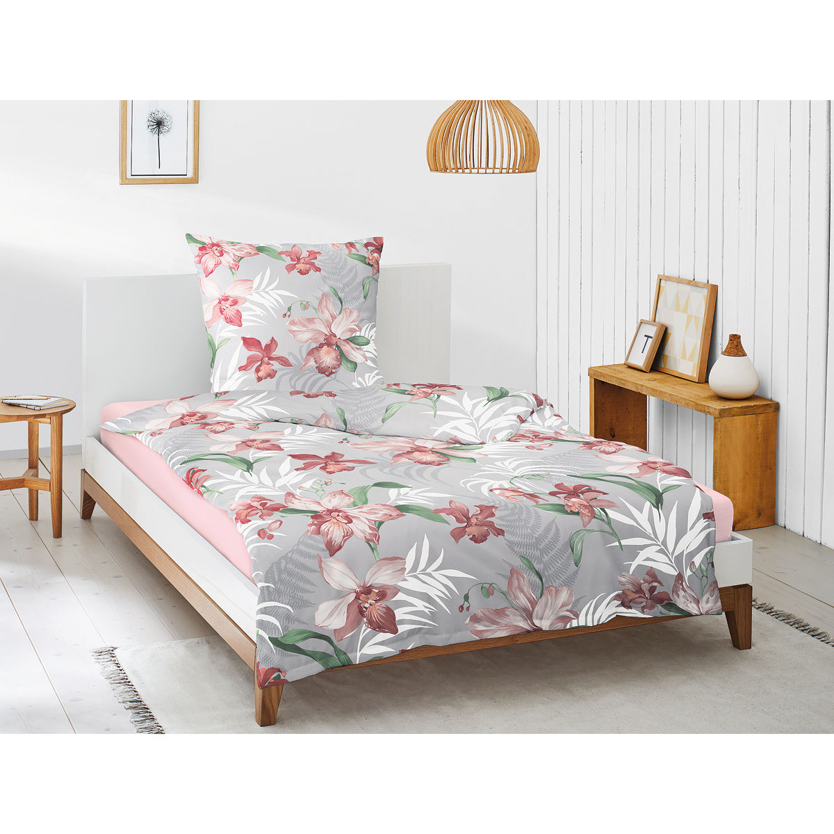 irisette interlock jersey bettw sche flora 135x200 cm karstadt online shop. Black Bedroom Furniture Sets. Home Design Ideas