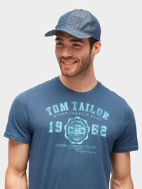 Tom Tailor Accessoire Baseball-Cap mit Stickerei, dark chambray