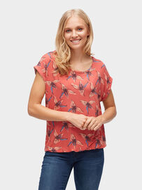 Tom Tailor T-Shirt T-Shirt mit Turn-Ups, baked apple red 1