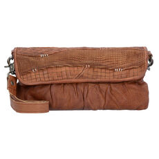 Billy the Kid Blade Cut Clutch Tasche Leder 30 cm, cognac