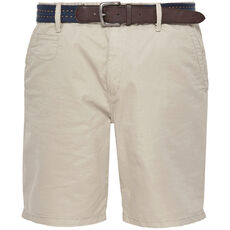 S.Oliver Red Label Herren Chino-Shorts mit Gürtel