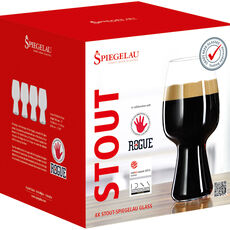 Spiegelau Craft Beer Stout Bierglas, 4er-Set, klar