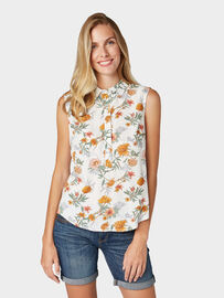 Tom Tailor Blusen & Shirts Sommerliches Blusentop, off white