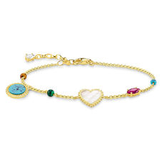 THOMAS SABO Armband Riviera Colours 925er Sterlingsilber; Gelbgold Vergoldung