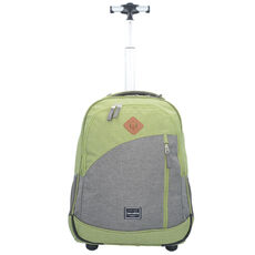 Travelite Basics 2-Rollen Rucksacktrolley 47 cm Laptopfach, grün/grau