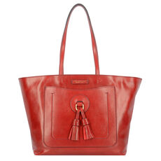 The Bridge Santacroce Shopper Tasche Leder 32 cm, rosso ribes abb.oro