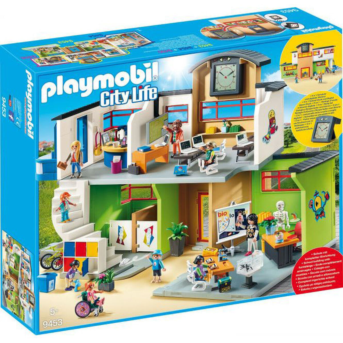playmobil city life gro e schule mit einrichtung 9453. Black Bedroom Furniture Sets. Home Design Ideas