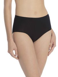 Calida Slip, high waist, black, schwarz