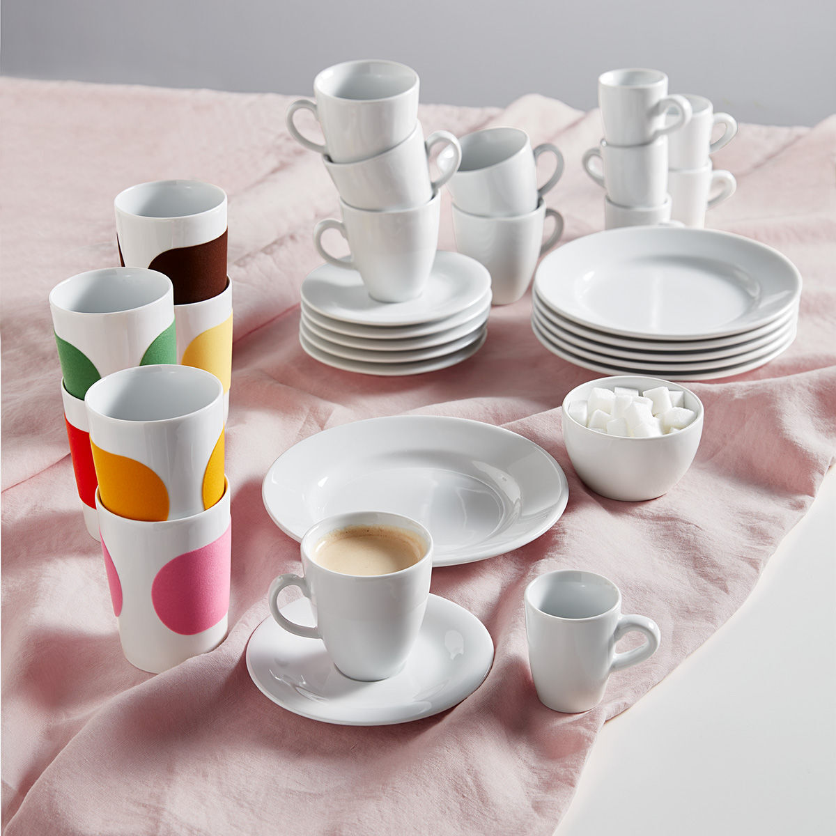 kahla porzellan kaffee set pronto 25 teilig karstadt online shop. Black Bedroom Furniture Sets. Home Design Ideas