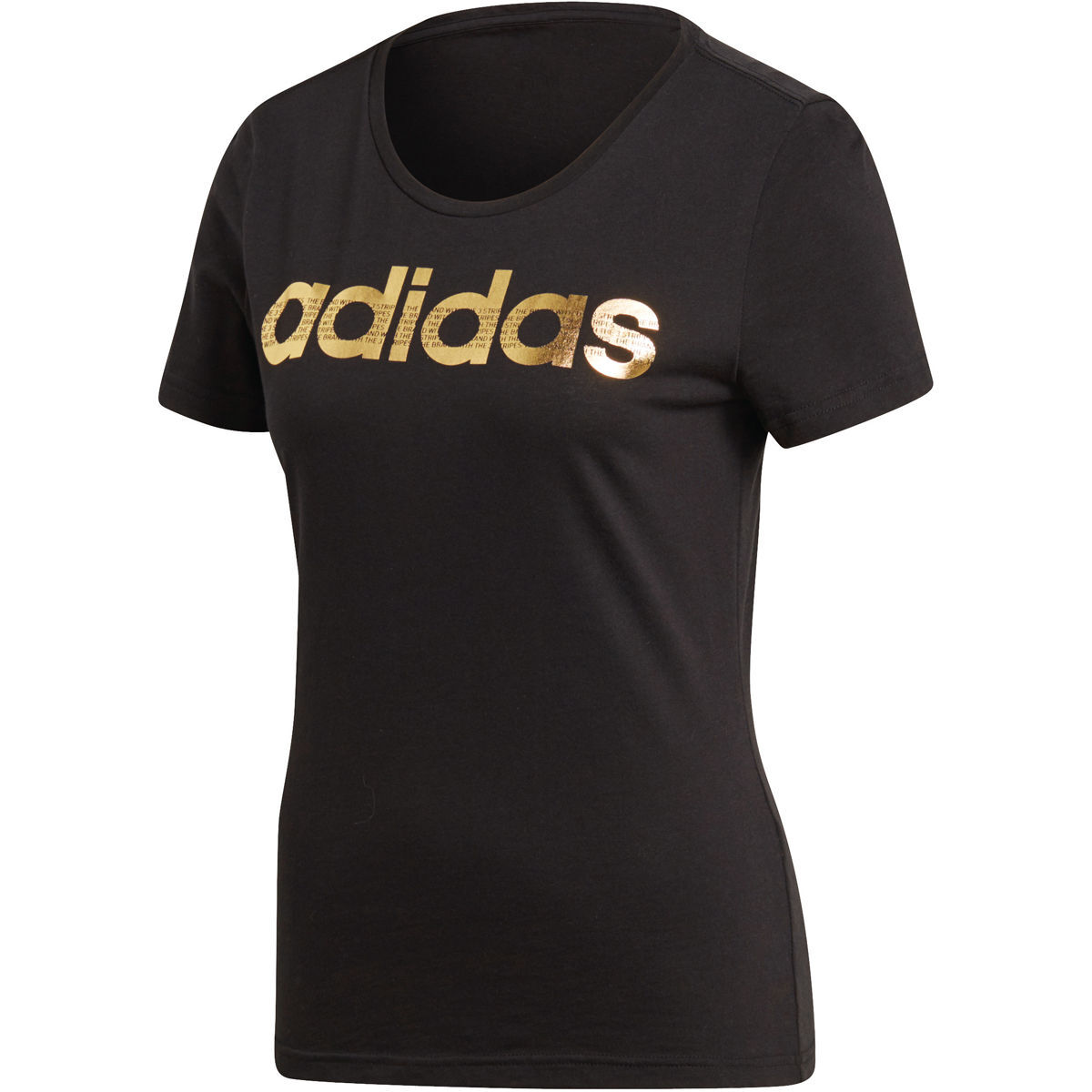 adidas damen t shirt foil linear schwarz m karstadt. Black Bedroom Furniture Sets. Home Design Ideas