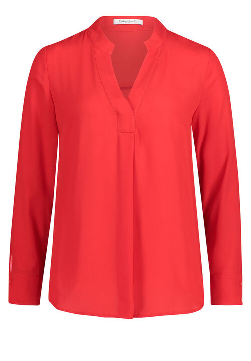 Betty Barclay Chiffonbluse, Hibiscus Red - Rot, 40 | Bekleidung > Blusen > Chiffonblusen | Betty Barclay