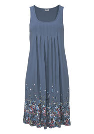 Beach Time Strandkleid mit Blumenprint, blau