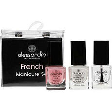 Alessandro French Manicure 3er Set, Mini