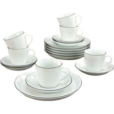 CreaTable Kaffee-Set Black Line, 18-tlg.