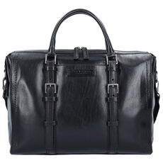The Bridge Byron Aktentasche Leder 39 cm Laptopfach, nero rutenio scuro opaco