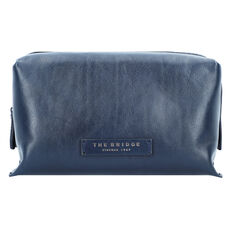 The Bridge Kallio Kosmetiktasche Leder 23 cm, blue navy dark ruthenium