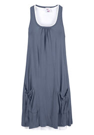 Beach Time Strandkleid, taubenblau