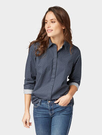 Tom Tailor Gepunktete Bluse, navy dot print small