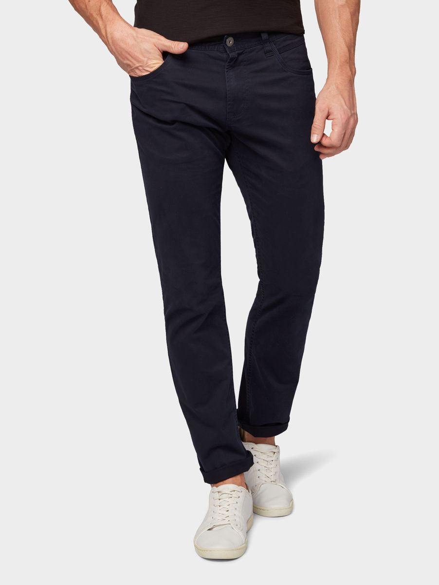 Tom Tailor Josh Regular Slim Hose, Knitted Navy   Karstadt Online-Shop fd4c1ea257