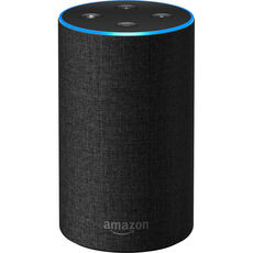 Amazon Echo (2. Generation), Intelligenter Lautsprecher mit Alexa, Stoff anthrazit