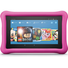 "Amazon Fire 7 Kids Edition-Tablet, 7"" (17,7 cm) Display, 16 GB, pinke kindgerechte Hülle"