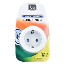 Go Travel EU-India Adapter 5,5 cm, weiss