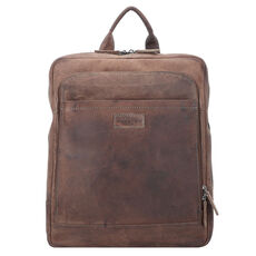Harold's Antic Office Businessrucksack Leder 37 cm Laptopfach, taupe