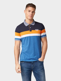 Tom Tailor Gestreiftes Poloshirt, blue multi yarn dye stripe