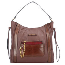 The Bridge Saturnia Schultertasche Leder 30 cm, marrone tb
