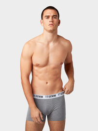 Tom Tailor Denim Nightwear Boxershorts im 3er-Pack , Heather Grey Melange