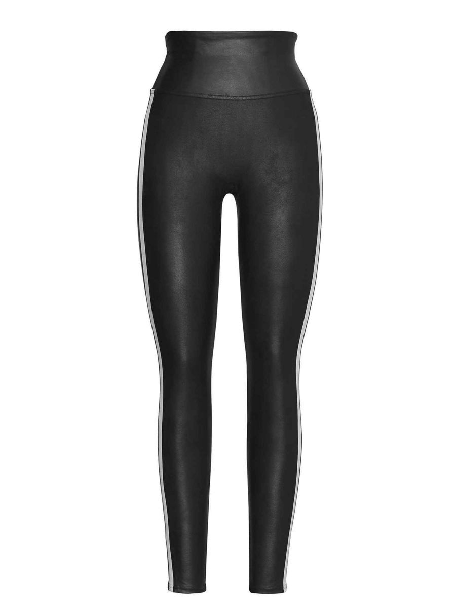0e6d3b9baf68da Spanx Shaping-Leggings in Leder-Optik, Very Black/White, schwarz ...