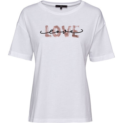She Damen T-Shirt mit Love Print