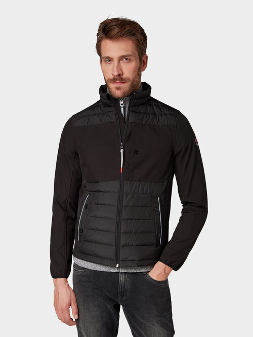 Tom Tailor Jacken & Jackets Softshelljacke mit Steppmuster, Black, XXL | Bekleidung > Jacken > Softshelljacken | Tom Tailor