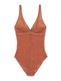 Calida Spitzen-Body, chutney red, orange