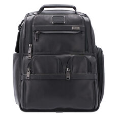 Tumi Alpha 3 Businessrucksack Leder 40 cm Laptopfach, black