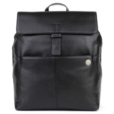 pierre cardin Satellite Businessrucksack Leder 39 cm Laptopfach, black