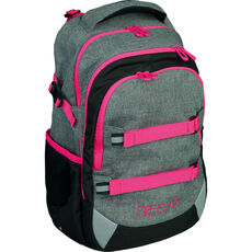 Neoxx Schulrucksack Active Pink and Famous, 2-tlg., grau/pink