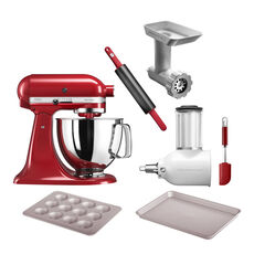 KitchenAid Küchenmaschine ARTISAN 5KSM125E, empire rot