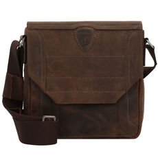 Strellson Hunter Umhängetasche Leder 26 cm, dark brown