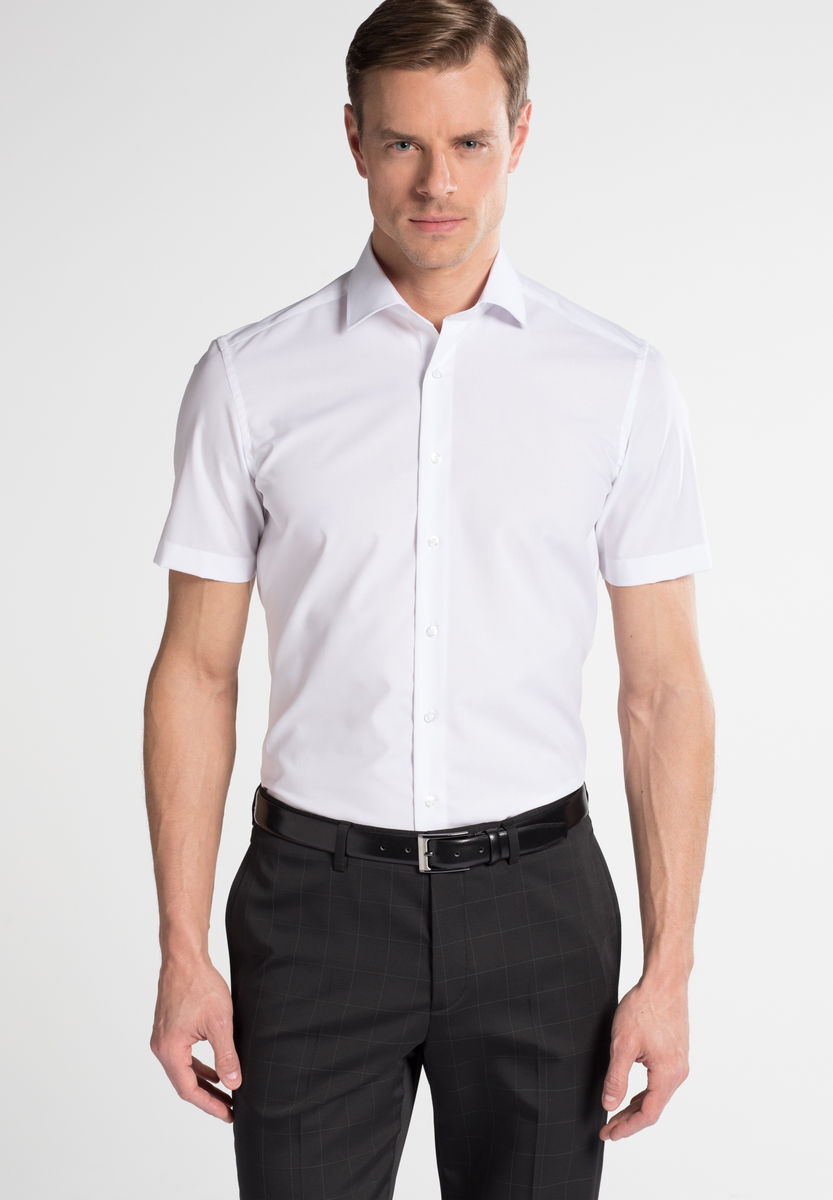 check out aa5a2 76054 Kurzarm Hemd SLIM FIT, Halbarm, weiss, 41